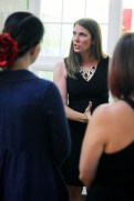 Local blogger Mara of The Joy of Style provided fashion tips to guests between shows.